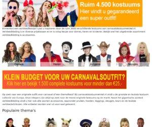 Carnavals kostuumwinkel cashback