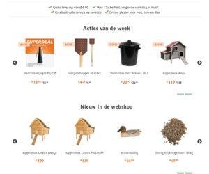 Tuinadvies Webwinkel cashback