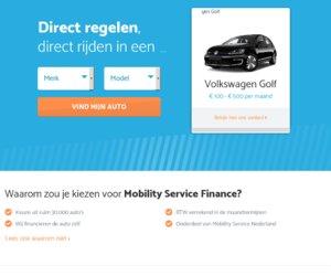 Mobility Service Finance cashback