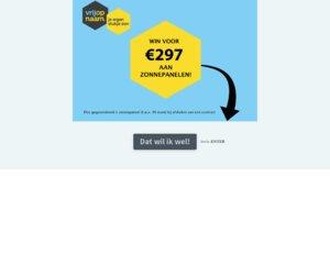 Vrijopnaam.nl cashback