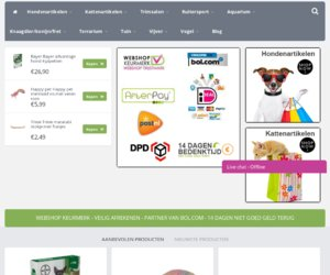 Onlinedierenwinkel.eu cashback