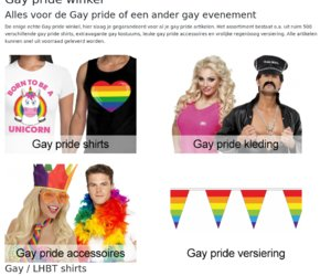 Gaypridewinkel.nl cashback