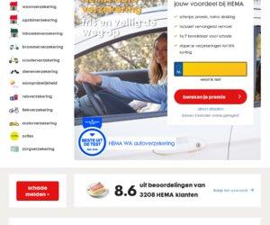 HEMA verzekeringen cashback