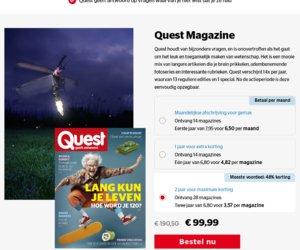 Quest.nl cashback
