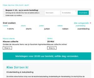 Kixx Online Kinderkleding cashback