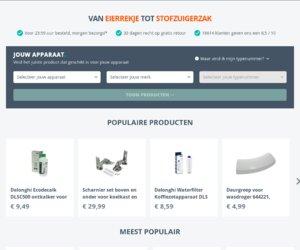 Onderdelen winkel.nl cashback