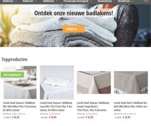 Linnenonline.nl cashback