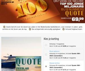 Quotenet.nl cashback