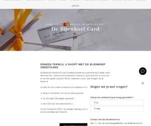 De Bijenkorf Card cashback