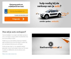 Ikwilvan mijnautoaf.nl cashback