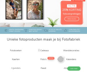 Fotofabriek.nl cashback