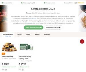 Kerstpakketonline.nl cashback