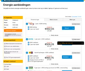 Energietopdeal.nl cashback