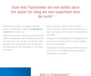 Flyboarding.nl cashback