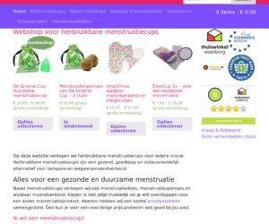 Menstruatiecups.nl cashback