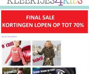 Kleertjes4kids.nl cashback
