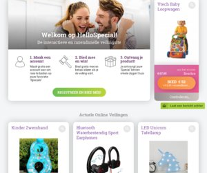 Veilingacties.nl cashback