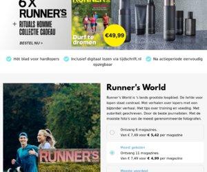 Runnersworld.com/nl/ cashback